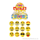 Smile Face Yellow Novelty Poppers (5cm)